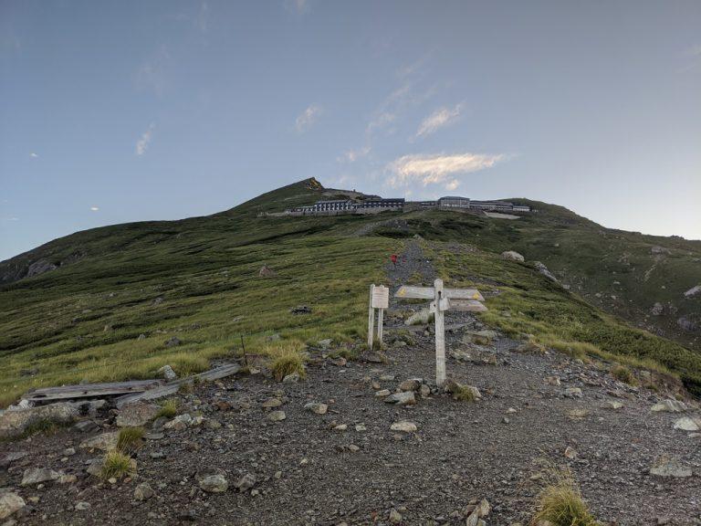 白馬山荘と白馬岳