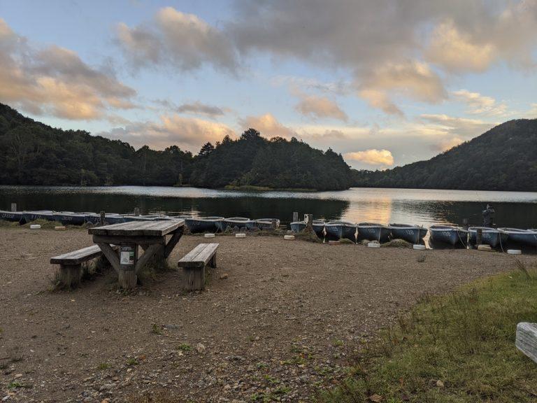 夕方の湯ノ湖