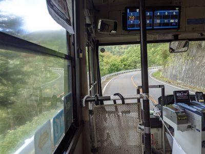関越交通 日光白根山ロープウェイ行きバス 車内
