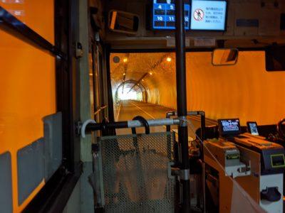 関越交通 日光白根山ロープウェイ行きバス トンネル