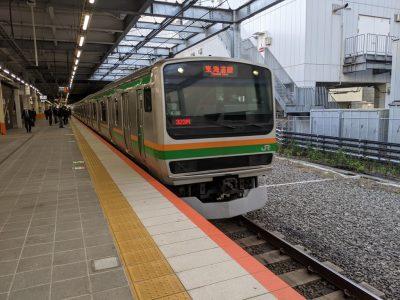 川崎駅ホーム 東海道本線 沼津行き