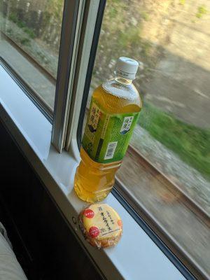 車内での朝食