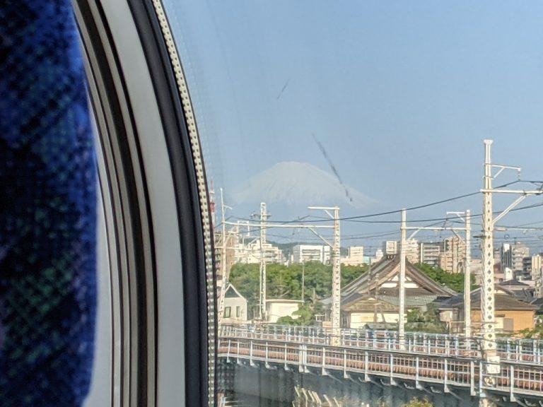 茅ヶ崎付近から見えた富士山