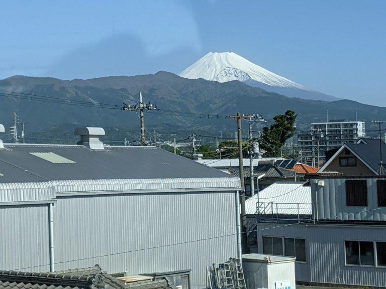 三島付近から見えた富士山