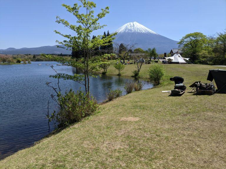 Aサイトから見える富士山