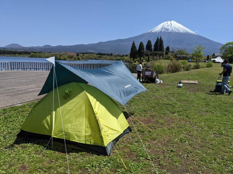 湖も近く富士山の見える好位置