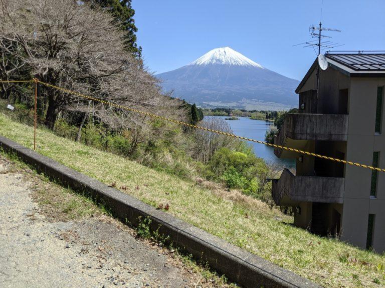 休暇村富士の西側から見える富士山