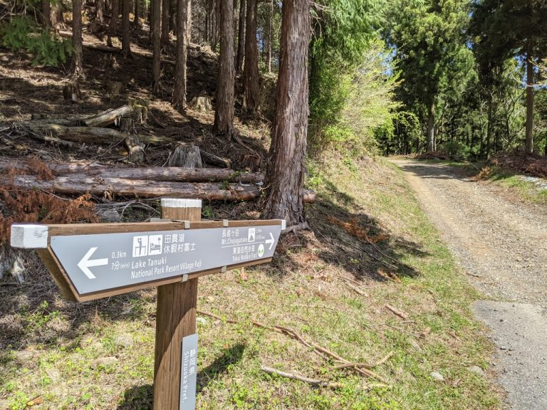 長者ヶ岳へ最初の標識