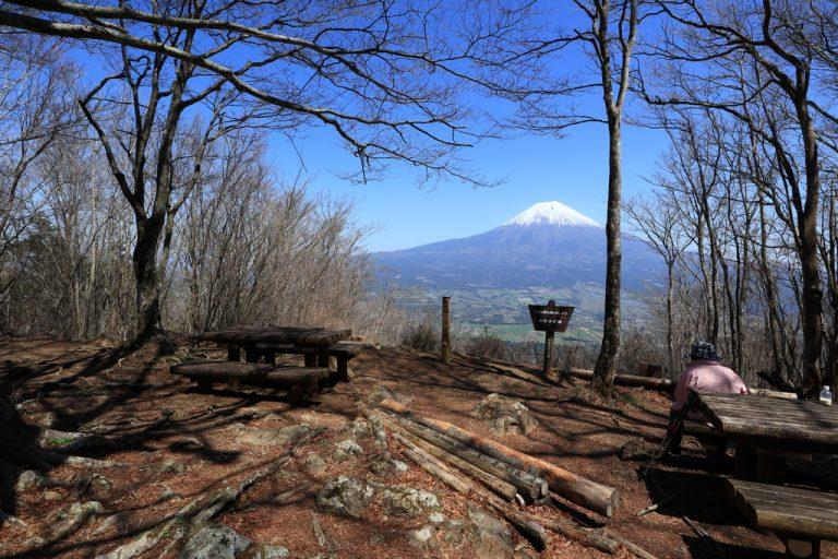 長者ヶ岳から見える富士山