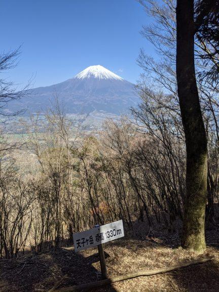 長者ヶ岳 富士見台から見える富士山