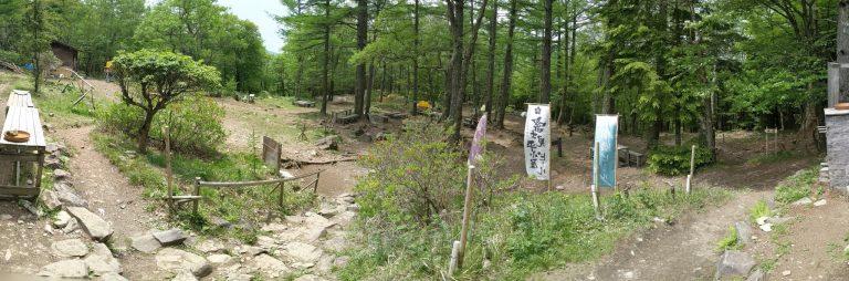 富士見平小屋 テント場