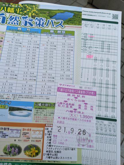 八幡平自然散策バス 時刻表・乗車券