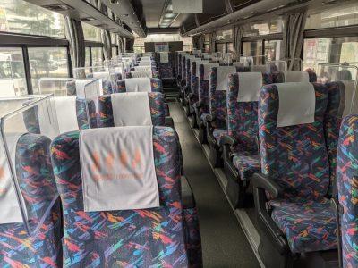 自然散策バス車内
