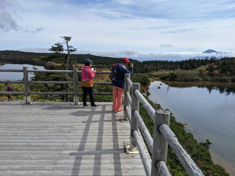ガマ沼と八幡沼と岩手山