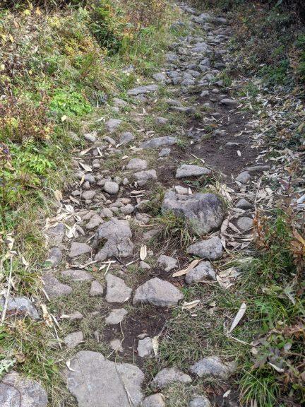 黒谷地~茶臼岳 岩が多めでちょっと歩きづらい