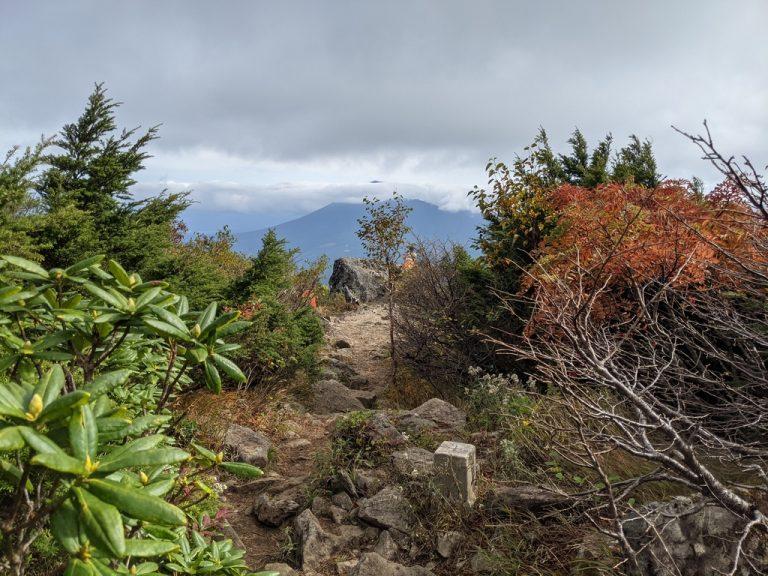 茶臼岳三角点