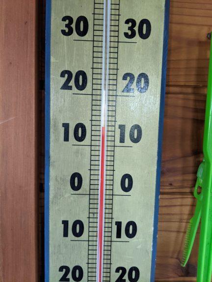 茶臼山荘温度計