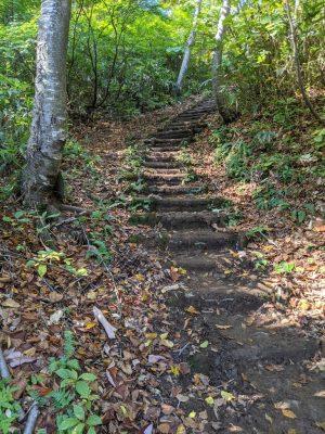 三ツ石山登山口近くの階段