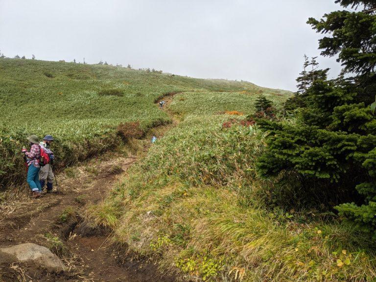 三ツ石山荘~三ツ石山 すぐに視界が広がる