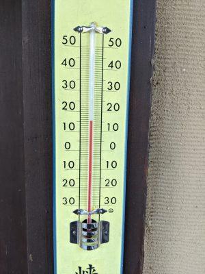 松川温泉温度計