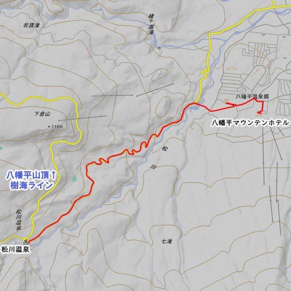 マウンテンホテルから松川温泉のバス経路
